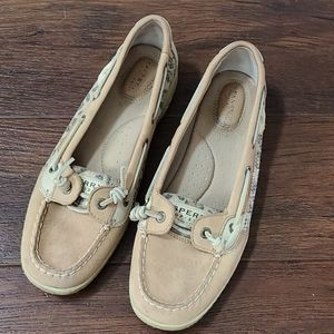 Sperry top sider 9.5 leopard cheetah boat shoes